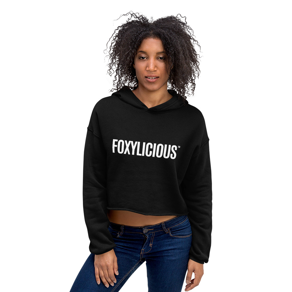 Foxy Tea® FOXYLICIOUS™ Crop Hoodie